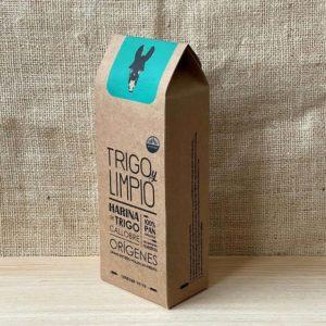 paquete gourmet de harina integral gallega 100% natural de Trigo y Limpio